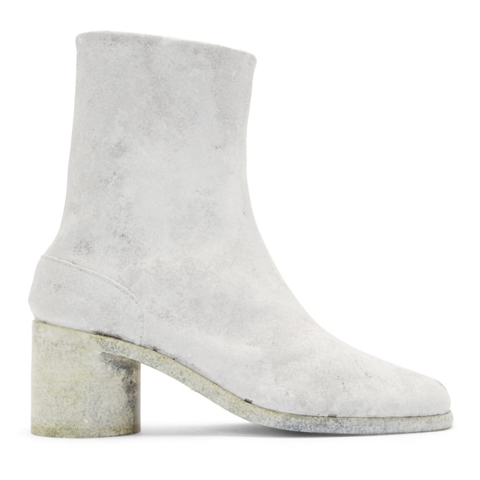 Maison Margiela White Painted Tabi Boots