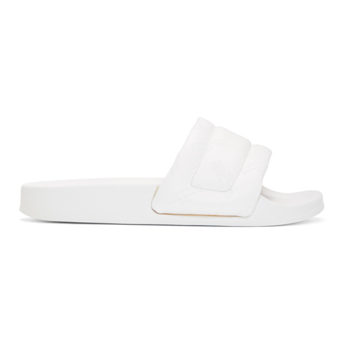 Maison Margiela White Leather Future Slides