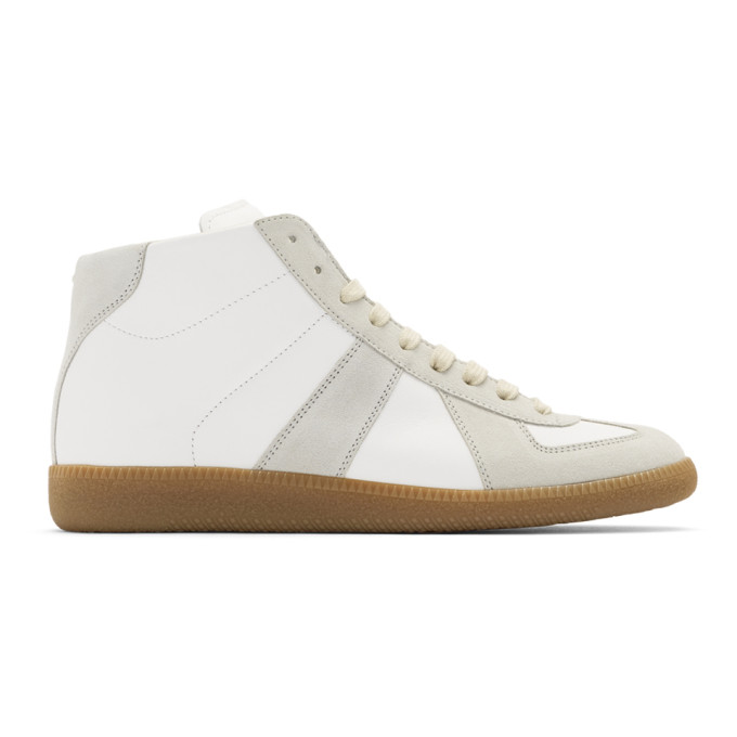 Maison Margiela White Replica High-Top Sneakers