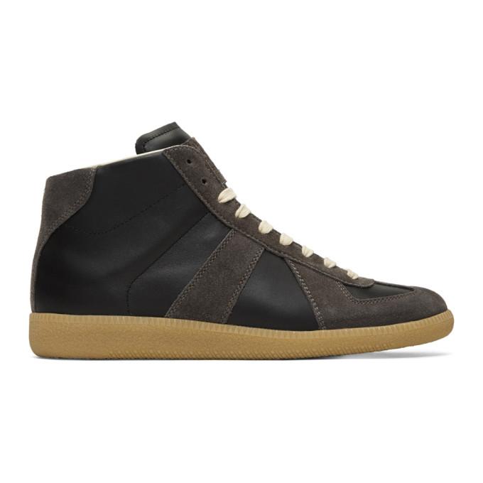 Maison Margiela Black & Brown Classic Mid Sneakers