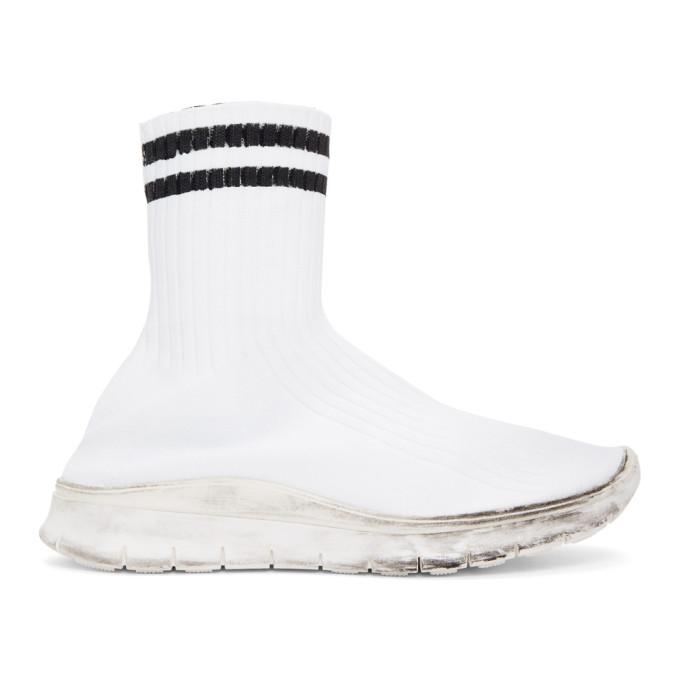 Maison Margiela White Sock High-Top Sneakers