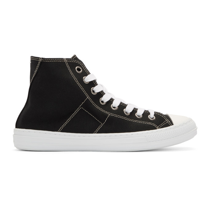 Maison Margiela Black Stereotype High-Top Sneakers