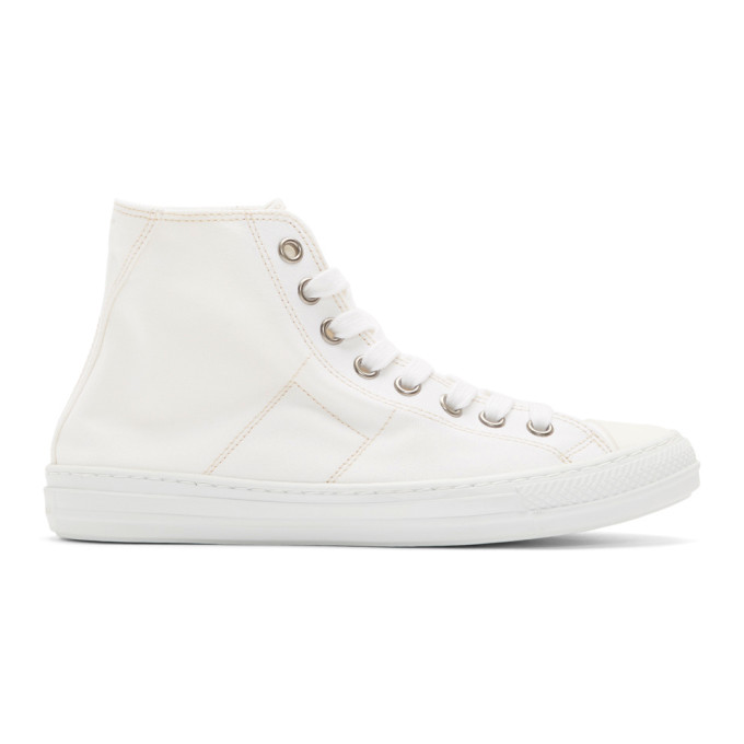 Maison Margiela White Stereotype High-Top Sneakers