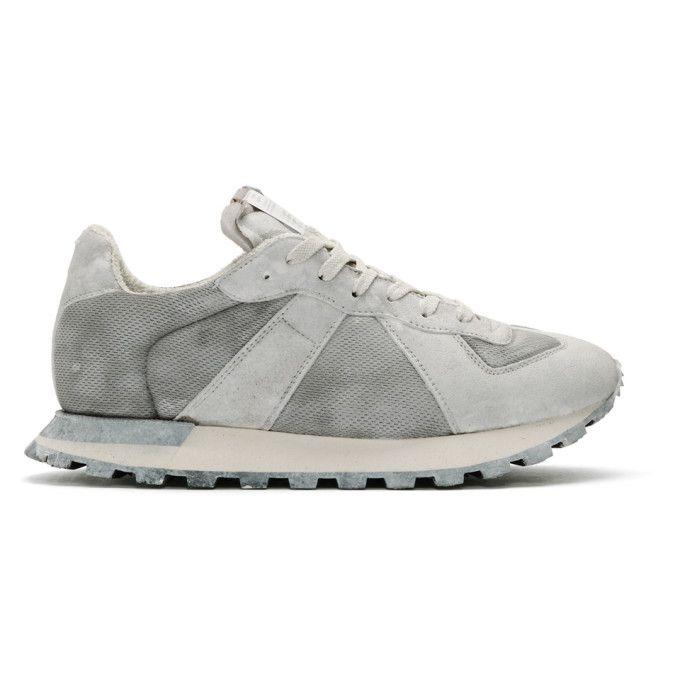 Maison Margiela White Painted Retro Runner Sneakers