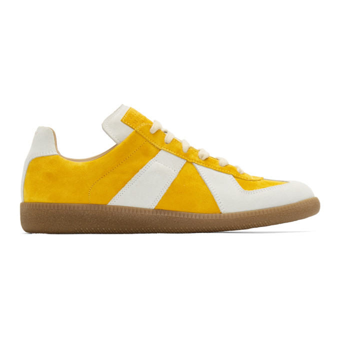 Maison Margiela Yellow & White Replica Sock Sneakers