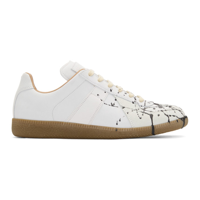 Maison Margiela White & Black Painter Sneakers