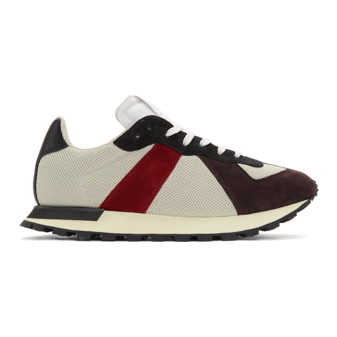 Maison Margiela Red & Grey Replica Runner Sneakers