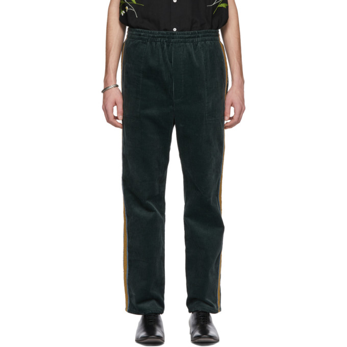 BODE Bode Green Corduroy Track Trousers