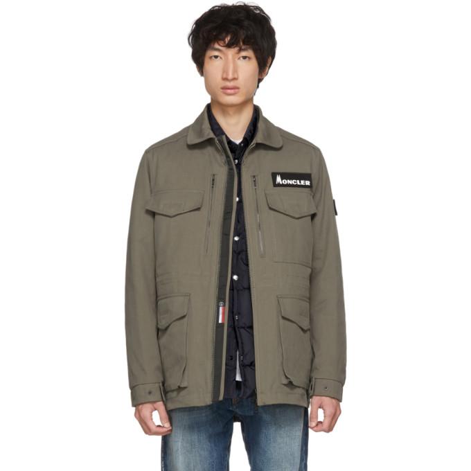 Moncler Genius 7 Moncler Fragment Hiroshi Fujiwara Khaki Down Jacket