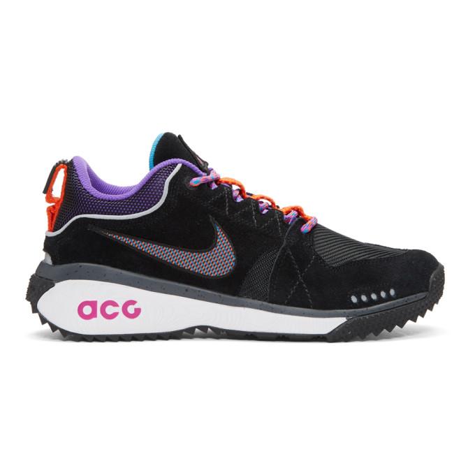 Nike ACG Black & Purple ACG Dog Mountain Sneakers