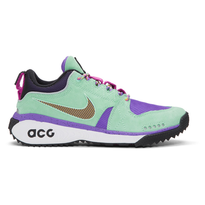 Nike ACG Green & Purple ACG Dog Mountain Sneakers