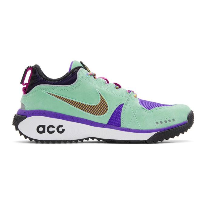 Nike ACG Green & Purple Dog Mountain Sneakers