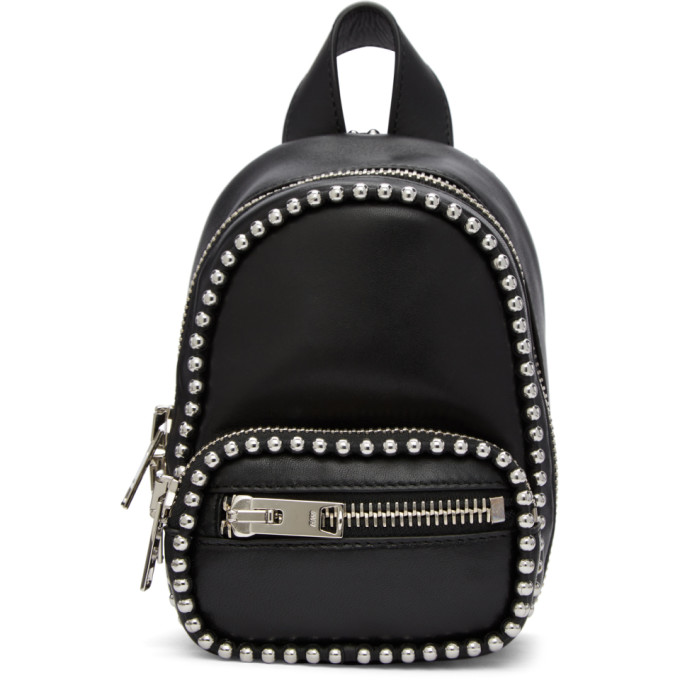 Attica Studded Leather Shoulder Bag, 001 Black