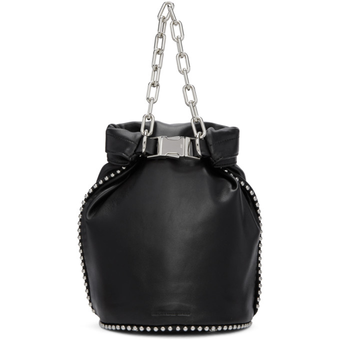 Image of Alexander Wang Black Attica Soft Dry Sack Bag