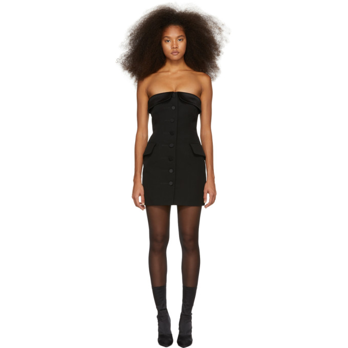 Alexander Wang Strapless Tuxedo Mini Dress - Black, 001 Black