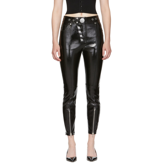 Alexander Wang Black Patent Leather Pants