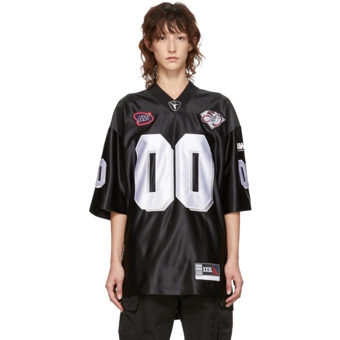 Alexander Wang Black Football Jersey Player Id T-Shirt, 001 Black