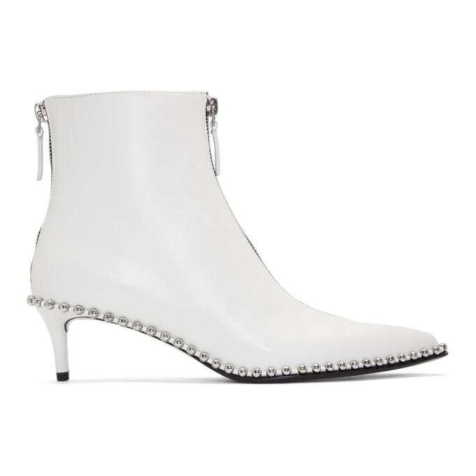 Alexander Wang White Eri Low Boots