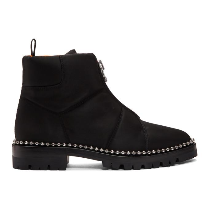 Alexander Wang Black Cooper Nylon Boots