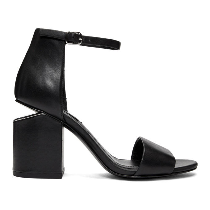 Image of Alexander Wang Black Abby Heel Sandals