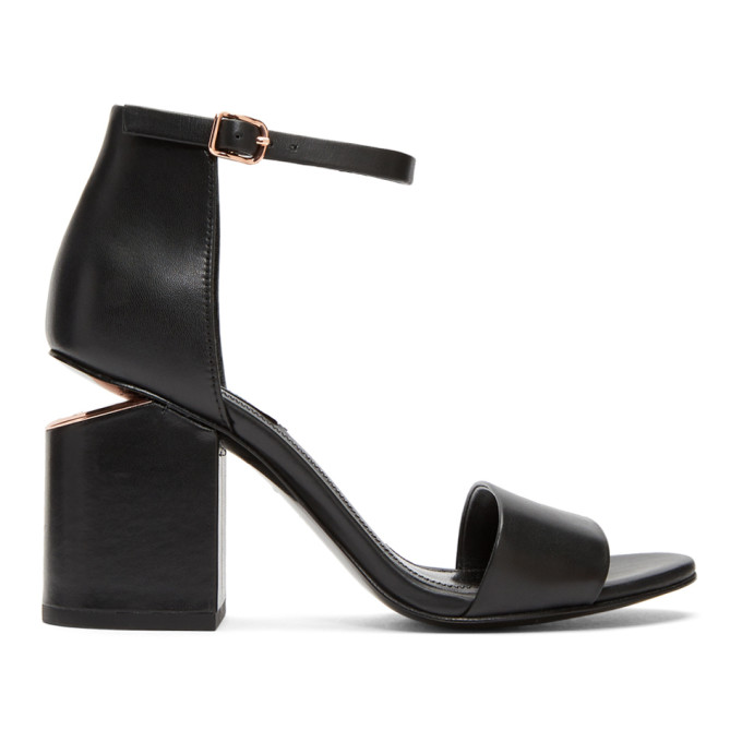 Image of Alexander Wang Black Abby Sandals