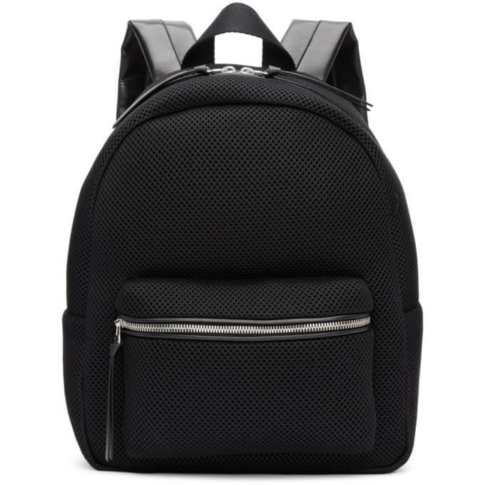 MM6 Maison Martin Margiela Black Mesh Backpack