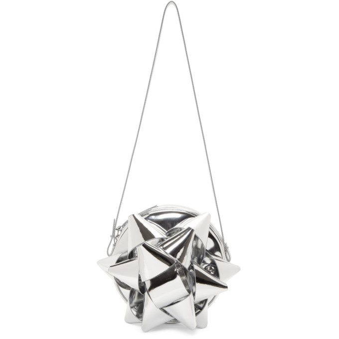 MM6 Maison Martin Margiela Silver Bow Shoulder Bag