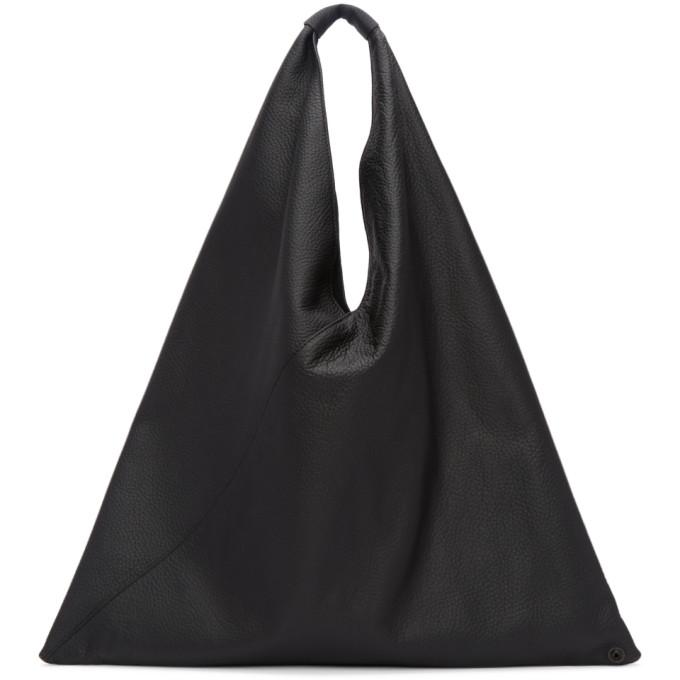 MM6 Maison Martin Margiela Black Regular Leather Tote