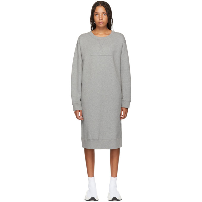 Crew Neck Jersey Dress in Grey