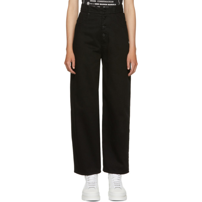 MM6 Maison Martin Margiela Black Just Wash Denim Jeans