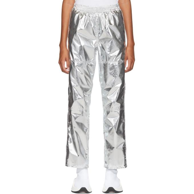 MM6 Maison Martin Margiela Silver Pull-On Lounge Pants