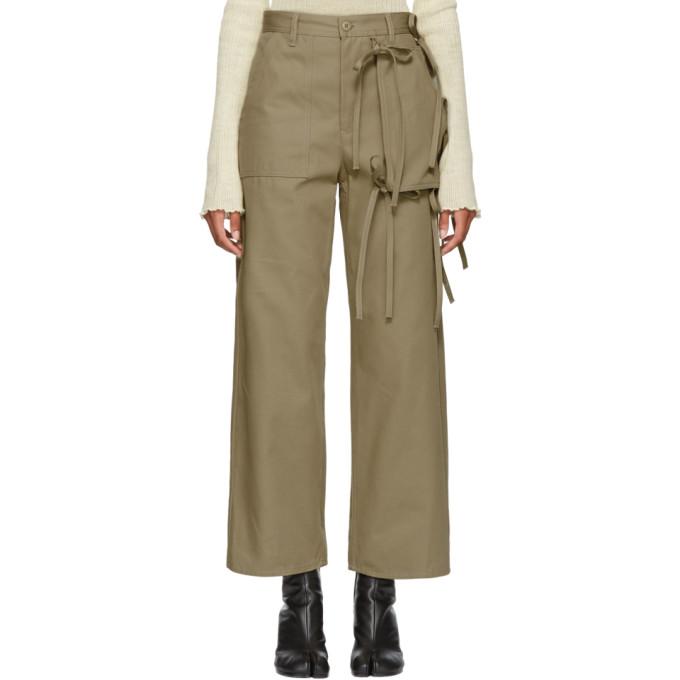 MM6 Maison Martin Margiela Beige Cargo Tie Trousers