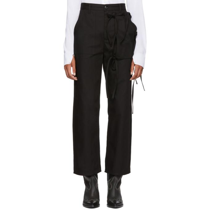 MM6 Maison Martin Margiela Black Cargo Tie Pants