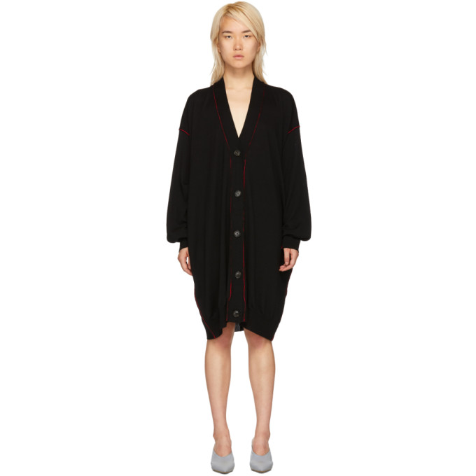Mm6 Maison Margiela MM6 MAISON MARGIELA BLACK EXTRA LONG CARDIGAN
