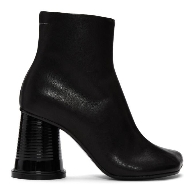 MM6 Maison Martin Margiela Black Cup Heel Boots