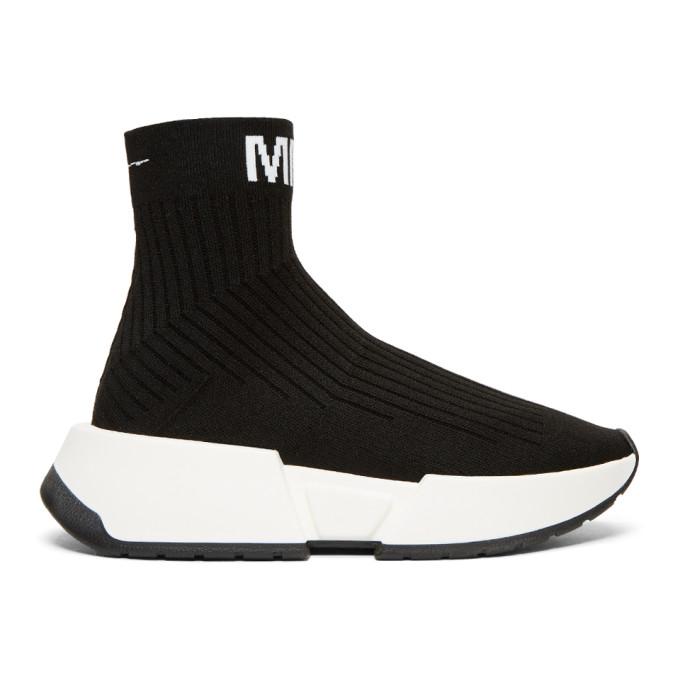 MM6 Maison Martin Margiela Black Sock High-Top Sneakers