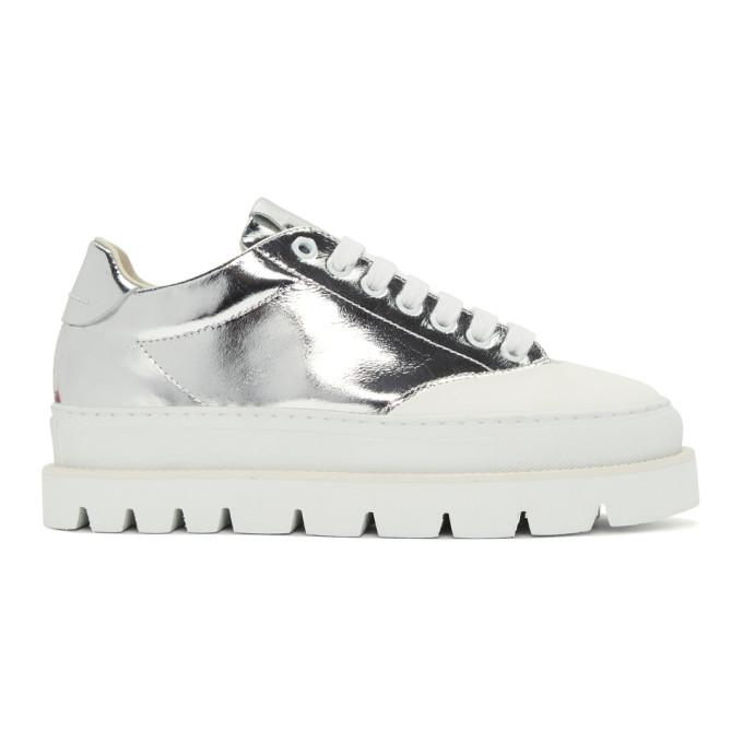 MM6 Maison Martin Margiela Silver & White Platform Sneakers