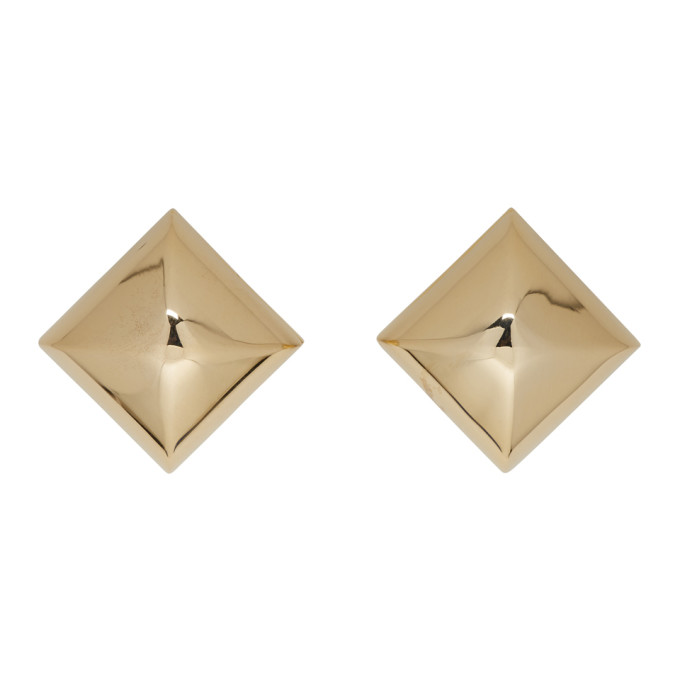 ad8f4035574a Marc Jacobs Gold Large Stud Clip On Earrings