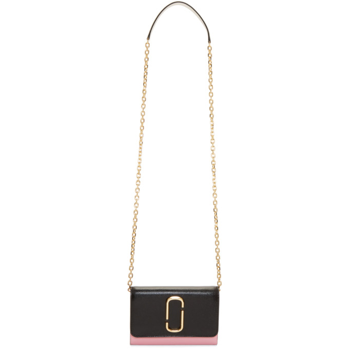 Marc Jacobs Black & Pink Chain Wallet Bag