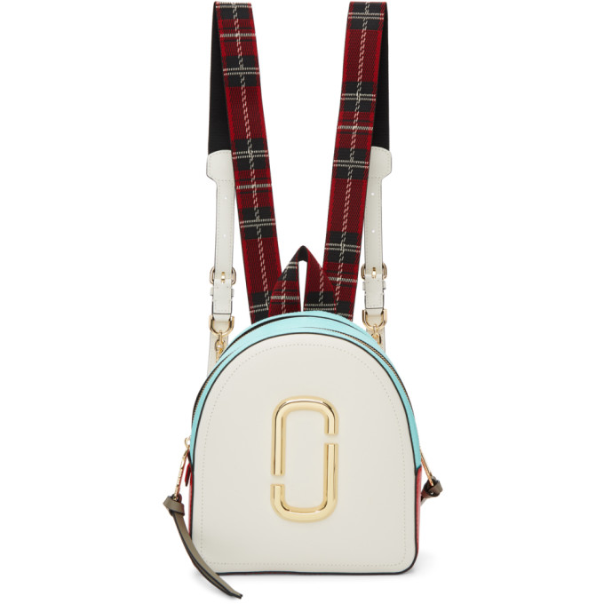Marc Jacobs White & Blue 'The Pack Shot' Backpack