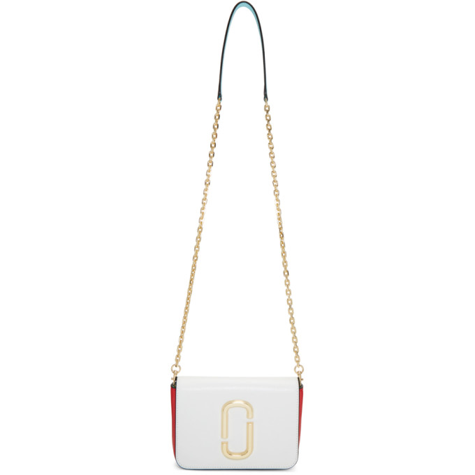 Marc Jacobs White & Red Hip Shot Bag