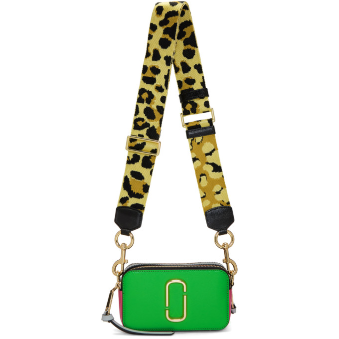 Marc Jacobs Green & Pink Snapshot Bag