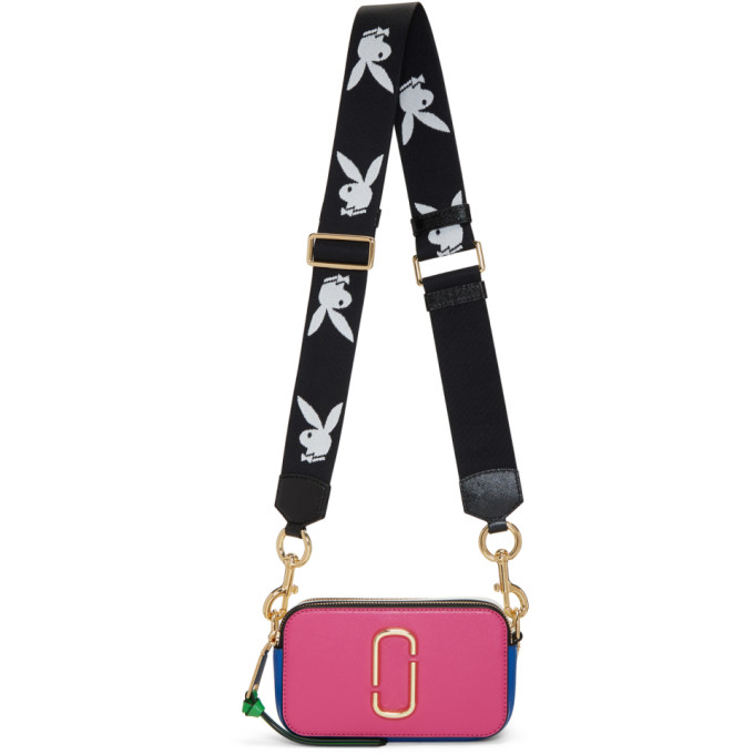 Marc Jacobs Pink & Blue Snapshot Bag