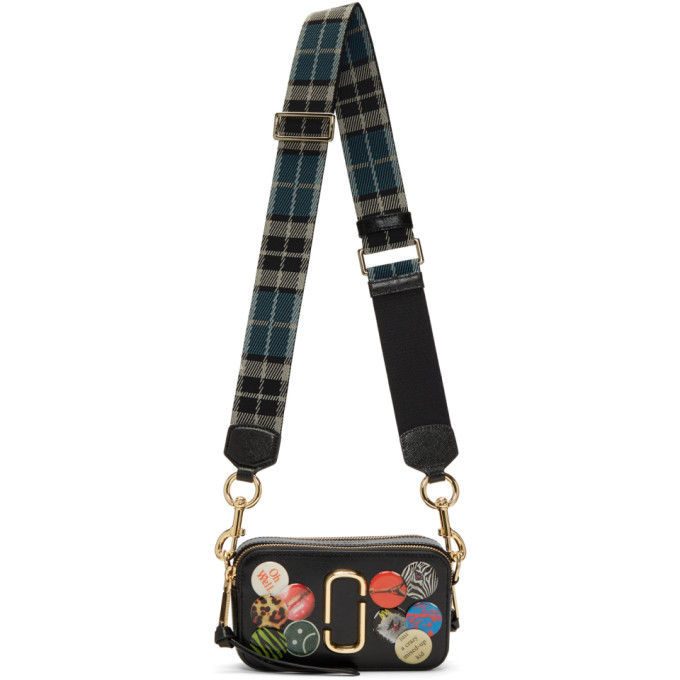 Marc Jacobs Black Snapshot Badges Bag