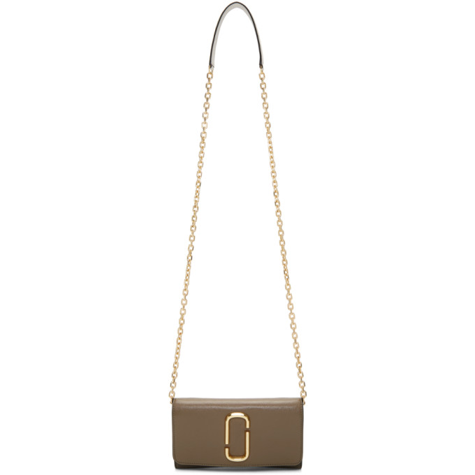 Marc Jacobs Grey Wallet On Chain Bag