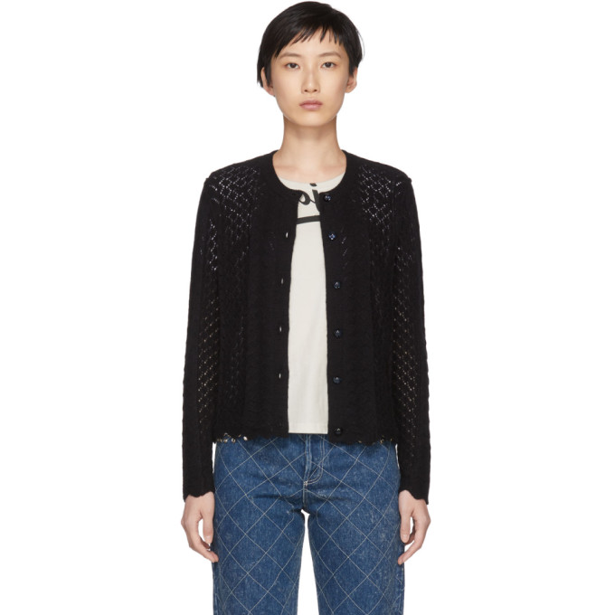 Image of Marc Jacobs Black Bracelet Sleeve Cardigan