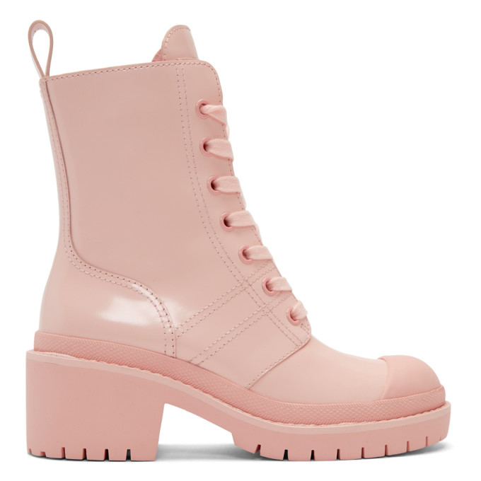 Marc Jacobs Pink Bristol Laced Up Boots