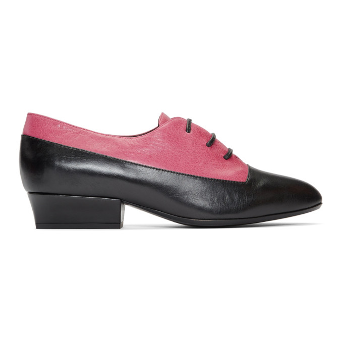 Marc Jacobs Pink & Black Colorblock Oxfords