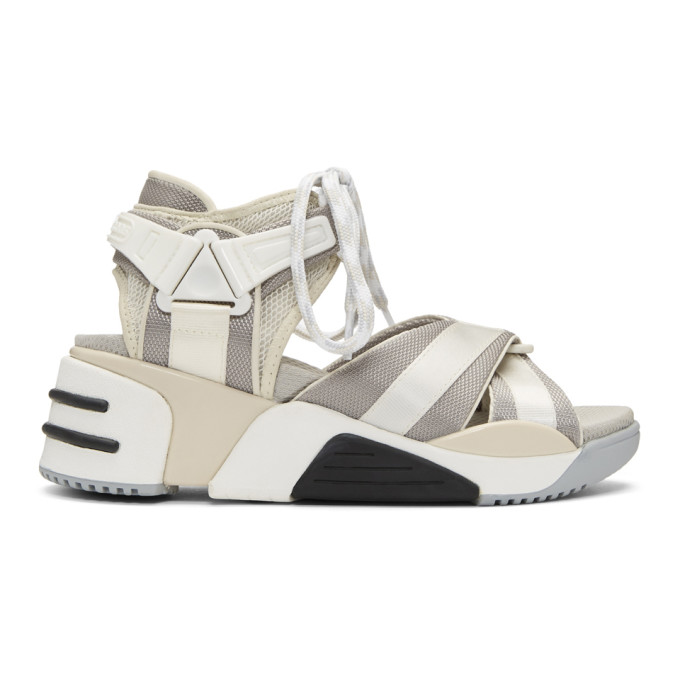 Marc Jacobs Off-White & Grey Somewhere Sport Sandals