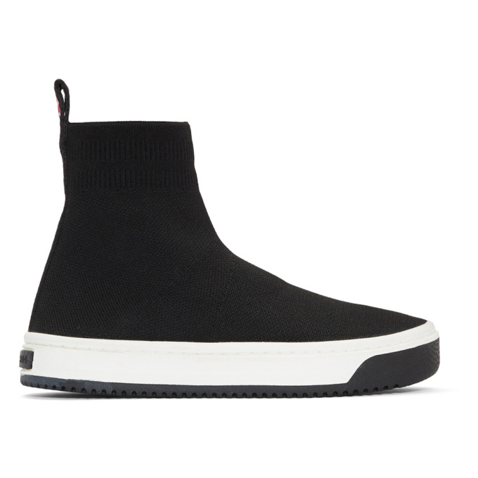 Marc Jacobs Black Logo Dart Sock Sneakers